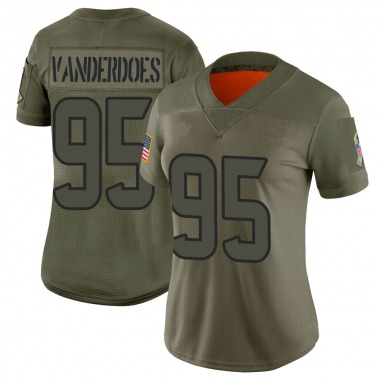Women's Nike Houston Texans Eddie Vanderdoes 2019 Salute to Service Jersey - Camo Limited