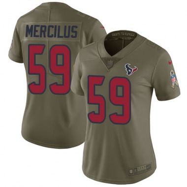 Women's Nike Houston Texans Whitney Mercilus 2017 Salute to Service Jersey - Olive Limited