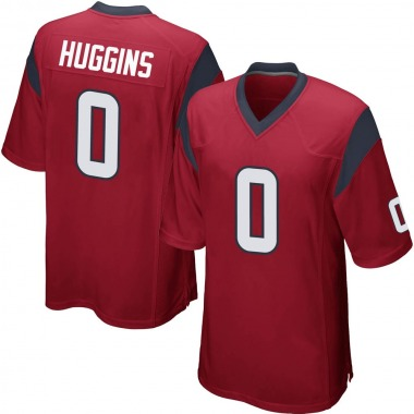 Youth Nike Houston Texans Albert Huggins Alternate Jersey - Red Game