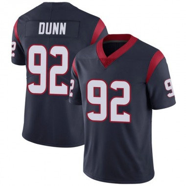 Youth Nike Houston Texans Brandon Dunn Team Color Vapor Untouchable Jersey - Navy Blue Limited