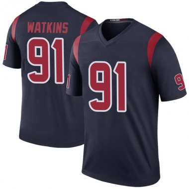 Youth Nike Houston Texans Carlos Watkins Color Rush Jersey - Navy Legend