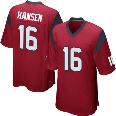 Youth Nike Houston Texans Chad Hansen Alternate Jersey - Red Game