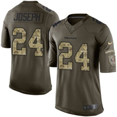 Youth Nike Houston Texans Johnathan Joseph Salute to Service Jersey - Green Limited