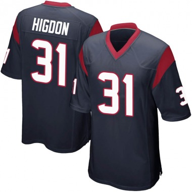 Youth Nike Houston Texans Karan Higdon Team Color Jersey - Navy Blue Game